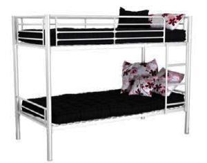 lit superpos m tallique 80x190cm pour centre de loisirs. Black Bedroom Furniture Sets. Home Design Ideas