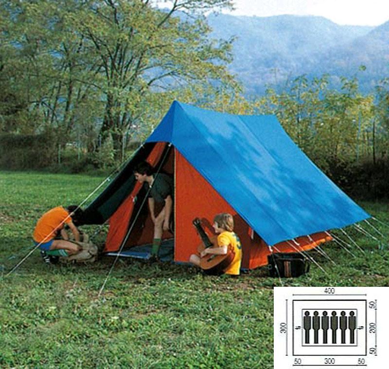 tente de patrouille scout 6 places coton m ts en v tapis ind pendant. Black Bedroom Furniture Sets. Home Design Ideas